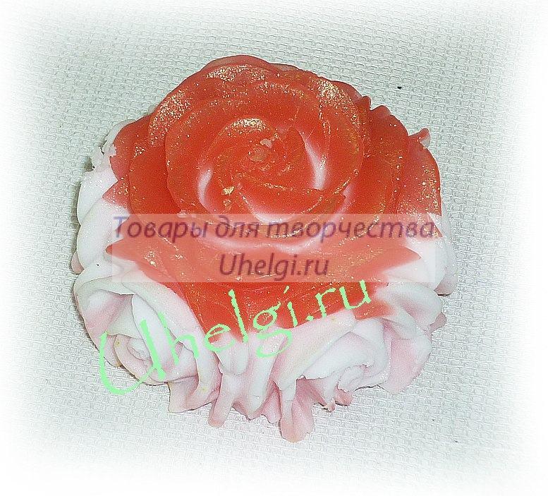 Объемная роза - мыло ручной работы