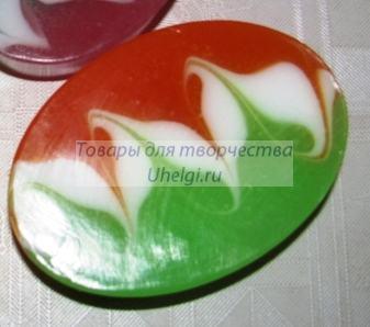 Мыло трехцветное со свирлами