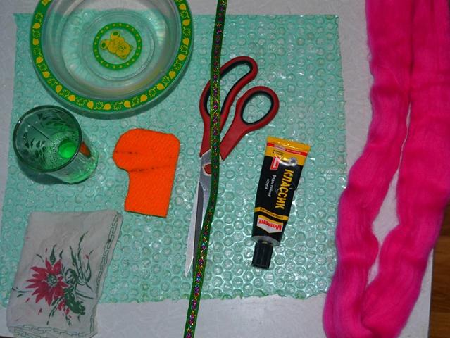 инструменты и материалы для валяния