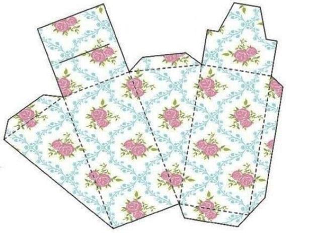 Схема выкройки для упаковки ручной работы