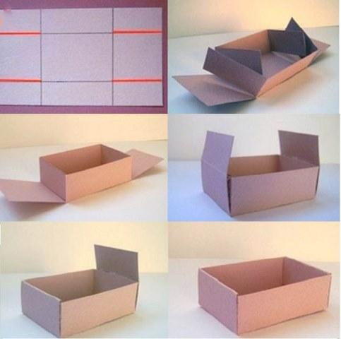коробка без клея своими руками