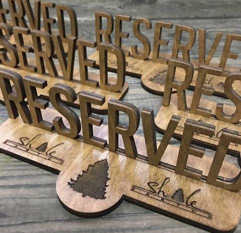 Табличка на стол для ярмарки