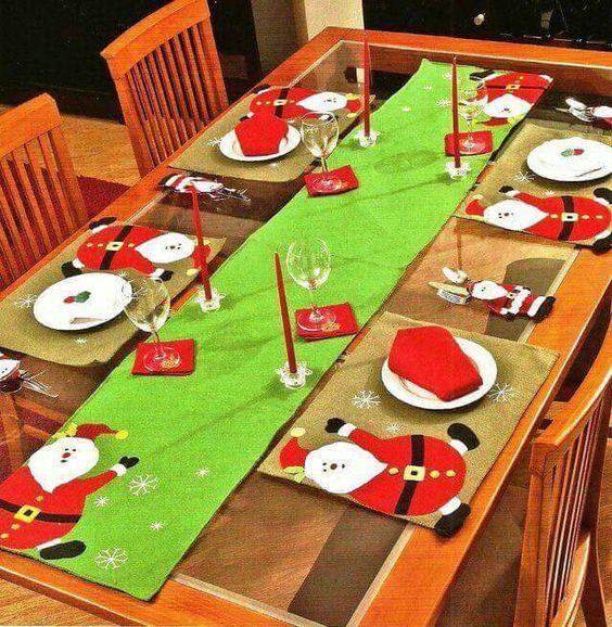 новогодний декор стола фото