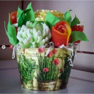 Мыло букет хризантемы купить в новокузнецке