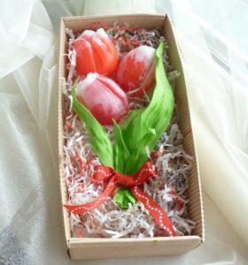 Тюльпаны из мыла букет