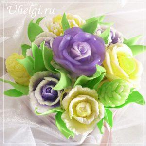 букет мыло розы фиолетовые и желтые купить новокузнецк