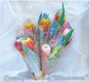 букет мыло тюльпаны Новокузнецк