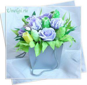цветы из мыла для букета