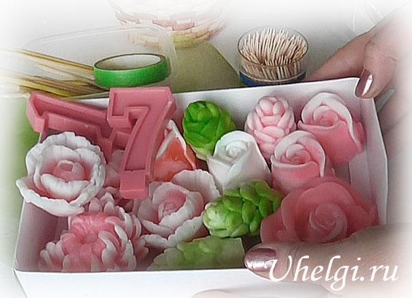 008 мыльные цветы для букета
