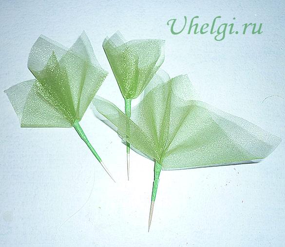 013 зелень для букетов из мыла органза
