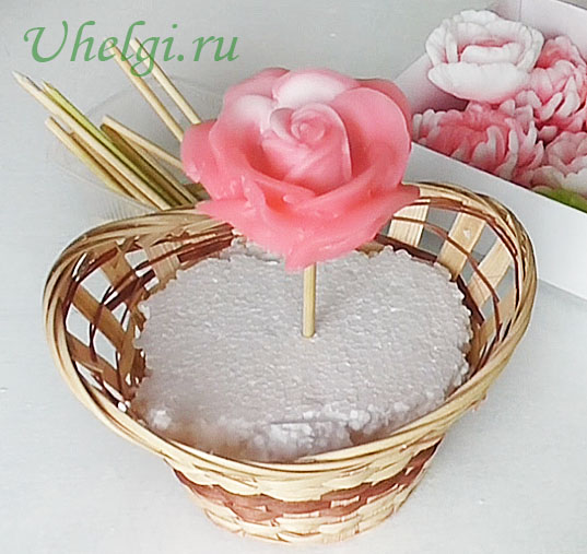 017 букет из мыла роза центральная