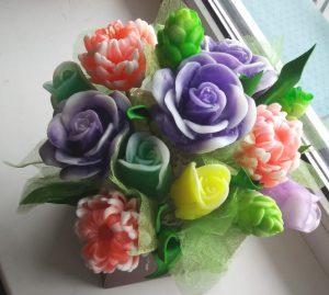 букет мыло розы хризантемы купить новокузнецк